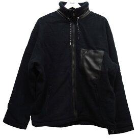 【中古】ALLEGE 19AW「Exclusive Woll Fleece Zip Up」フリースジャケット ブラック サイズ:3 【041020】(アレッジ)