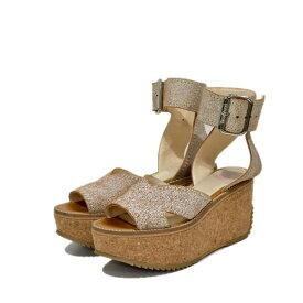 【中古】Vivienne Westwood スレイブコルクサンダル ブラウン サイズ:38(24.0cm〜24.5cm) 【061020】(ヴィヴィアンウエストウッド)