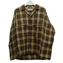 【中古】Graphpaper19AW 「Wool Check Military Shirt」 チェックシャツ ブラウン サイズ:2