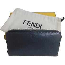 【中古】FENDI セレリアラウンドファスナー長財布 グレー 【131020】(フェンディ)