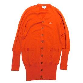 【中古】Vivienne Westwood MAN 胸オーブ刺繍ロングカーディガン オレンジ サイズ:44 【151020】(ヴィヴィアンウエストウッドマン)