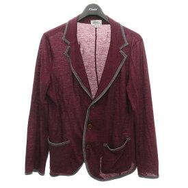 【中古】Vivienne Westwood MAN ニットジャケット カーディガン レッド系/グレー サイズ:48 【221020】(ヴィヴィアンウエストウッドマン)