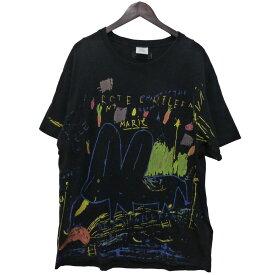 【中古】VETEMENTS 18AW「ELEPHANT MARIE T-SHIRT」プリントTシャツ ブラック サイズ:M 【251020】(ヴェトモン)