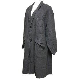 【中古】nest Robe 2020AW 起毛 リネン フレア ジャケット チャコールグレー サイズ:F 【271020】(ネストローブ)