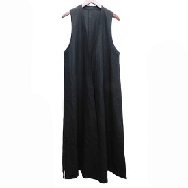 【中古】LEMAIRE ノースリーブコート ブラック サイズ:40 【291020】(ルメール)