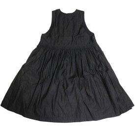 【中古】nest Robe 2020AW コットン リネン サフィラン スリーブレス ワンピース ブラック サイズ:F 【291020】(ネストローブ)