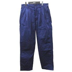 【中古】is-ness「AH EDITORIAL WIDE CHINO PANTS」ワイドチノパンツ ネイビー サイズ:38 【9月6日見直し】