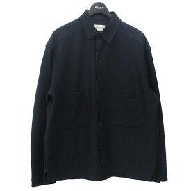 【中古】LEMAIRE ポケットデザインシャツジャケット ネイビー サイズ:S 【131120】(ルメール)