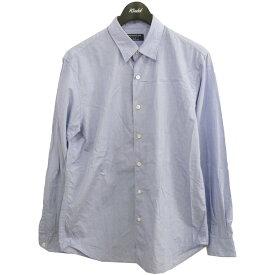 【中古】TOMORROW LAND PILGRIM 20AW ブリティッシュポプリンレギュラーカラーシャツ ブルー サイズ:M 【211120】(トゥモローランドランド ピルグリム)