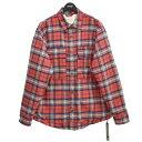 【中古】FEAR OF GOD Plaid Flannel Shirt Jacket フランネルシャツジャケット レッド サイズ:S 【231120】(フィア…
