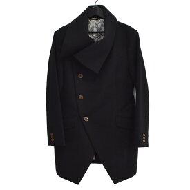 【中古】Vivienne Westwood MAN メルトン ミントカラーコート ブラック サイズ:48 【261120】(ヴィヴィアンウエストウッドマン)