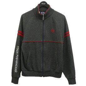 【中古】Gosha Rubchinskiy×Sergio Tacchini ジップジャケット グレー サイズ:M 【021220】(ゴーシャラブチンスキー セルジオ・タッキーニ)