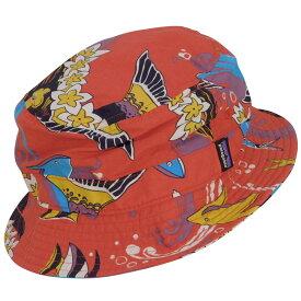 【中古】patagonia ウェーブフェアラー バケットハット 29156 帽子 レッド サイズ:L/XL 【021220】(パタゴニア)
