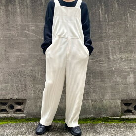 【中古】HOMME PLISSE ISSEY MIYAKE 20SS PLEATS BOTTOMS2プリーツオーバーオールサロペット ホワイト サイズ:1 【021220】(オム プリッセ イッセイミヤケ)