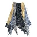 【中古】IRENE 2020SS Dot Bundle Pleated Skirt ドットアシンメトリープリーツスカート ベージュ×ネイビー サイズ…