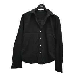 【中古】Frank&Eileen BARRY コットンスキッパーシャツ ブラック サイズ:XS 【131220】(フランクアンドアイリーン)