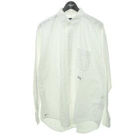 【中古】NAUTICA×A.H×加藤農園ボタンダウンシャツ ホワイト サイズ:M 【4月19日見直し】