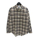 【中古】Graphpaper 20AW ×THOMAS MAISON FOR GP CHECK B.D BOX SHIRT グレー×オレンジ サイズ:1 【301220】(グ…