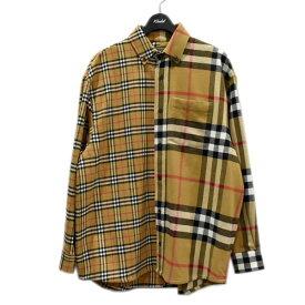 【中古】BURBERRY × Gosha Rubchinskiy 18AW オーバーサイズチェックシャツ OVER SIZE CHECK FLANNEL SHIRT ベージュ サイズ:S 【220121】(バーバリー ゴーシャラブチンスキー)