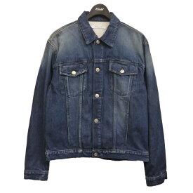 【中古】GIVENCHY バックロゴデニムジャケット インディゴ サイズ:XL 【230121】(ジバンシィ)