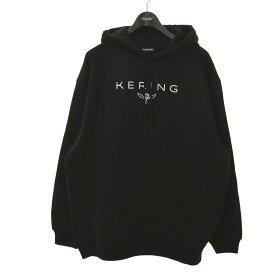【中古】BALENCIAGA 18AW KERING パーカー ブラック サイズ:XL 【250121】(バレンシアガ)