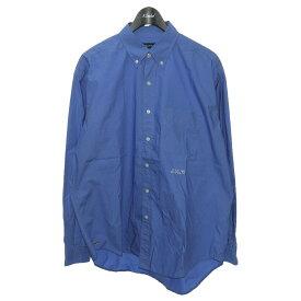 【中古】NAUTICA×A.H×加藤農園 ボタンダウンシャツ ブルー サイズ:M 【170321】(ノーティカ アキオハセガワ カトウノウエン)
