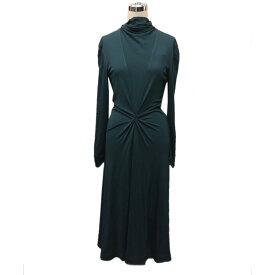 【中古】FUMIKA UCHIDA 「TIE COLLAR JERSEY DRESS」 ボウタイワンピース グリーン サイズ:36 【190321】(フミカ ウチダ)