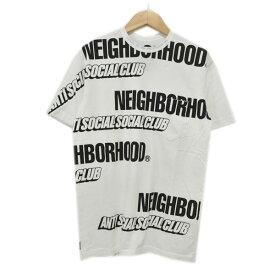 【中古】NEIGHBOR HOOD × ANTI SOCIAL SOCIAL CLUB 19AW ASSC / C-CREW . SS プリントTシャツ ホワイト サイズ:S 【040421】(ネイバーフッド アンチソーシャルソーシャルクラブ)