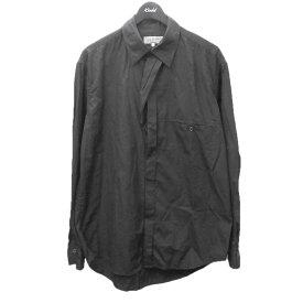 【中古】YOHJI YAMAMOTO pour hommeフロントデザインシャツ ブラック サイズ:4 【5月27日見直し】