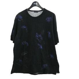 【中古】LAD MUSICIAN 18AW「BIG T-SHIRT 14/1 T-CLOTH INKJET ROSE PHOTO」 ブラック サイズ:42 【010521】(ラッドミュージシャン)