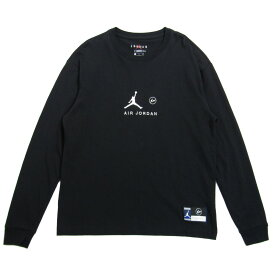 【中古】NIKE JORDAN BRAND×FRAGMENT DESIGN 2020AW「AS M J FG LS TEE」バックプリントデザイン長袖Tシャツ ブラック サイズ:S 【090521】(ナイキジョーダンブランド×フラグメントデザイン)