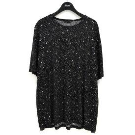 【中古】LAD MUSICIAN BIG T-SHIRT INKJET SKULL FLOWER プリントTシャツ ブラック サイズ:44 【300621】(ラッドミュージシャン)