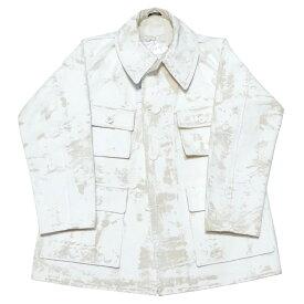 【中古】Maison Margiela 20SS ペンキ 加工 カバーオール ジャケット アイボリー サイズ:40 【240721】(メゾン マルジェラ)
