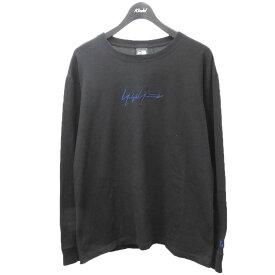 【中古】Yohji Yamamoto pour homme×NEW ERA フロント刺繍カットソー ブラック サイズ:XL 【240721】(ヨウジヤマモトプールオム ニューエラ)