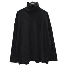 【中古】LAD MUSICIAN ハイネックスーパービッグTシャツ HIGH NECK SUPER BIG T-SHIRT ブラック サイズ:- 【270721】(ラッドミュージシャン)