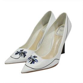 【中古】Christian Dior 20SS DIOR PARADISE パンプス ホワイト サイズ:36 1/2 (23.5cm) 【100921】(クリスチャンディオール)