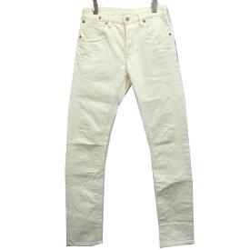 【更にお求めやすくなりました】【中古】MARKAWARE15SSストレッチデニムパンツ ホワイト サイズ:1