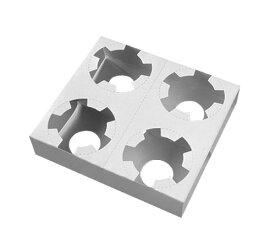 【ケース販売】紙製カップホルダー 白 4穴(ミシン目入)1ケース(500枚入)