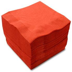 【紙ナプキン】4つ折り2PLYナプキン「イタリアンレッド」(1ケース3,000枚)