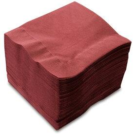 【紙ナプキン】4つ折り2PLYナプキン「ワインレッド」(1ケース3,000枚)
