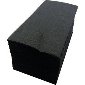 【紙ナプキン】8つ折り2PLYナプキン「ブラック」(10パック500枚)