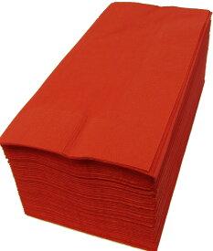 【紙ナプキン】8つ折り2PLYナプキン「イタリアンレッド」(1ケース2000枚)