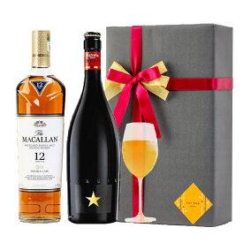 おしゃれ ラッピング 無料 お酒ギフトイネディット マッカラン 12年 ダブルカスク 2本セット 高級 ビール 金賞 ウイスキー 飲み比べ プレゼント バースデー 贈答品 開店祝い #gift43R alc