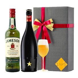 父の日 プレゼント ラッピング お酒 おしゃれ ギフトイネディット ジェムソン 2本セット 高級 ビール 金賞 ウイスキー 飲み比べ #gift53R alc