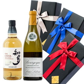 父の日 プレゼント ラッピング お酒 おしゃれ ギフト知多 / ルイ ラトゥール ブルゴーニュ シャルドネ 2本セット ウイスキー 飲み比べ白ワイン #giftw506 alc