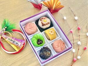 【 お祝 】6個入 高級 上生菓子 練り切り 期間限定 お取り寄せ 個包装 送料無料