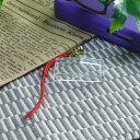 ★即納 【ハメパチ】自分で作るオリジナル写真入りストラップ 手作りキット 絵馬型 根付ストラップ 赤 100個入り 【お買い得 割引…
