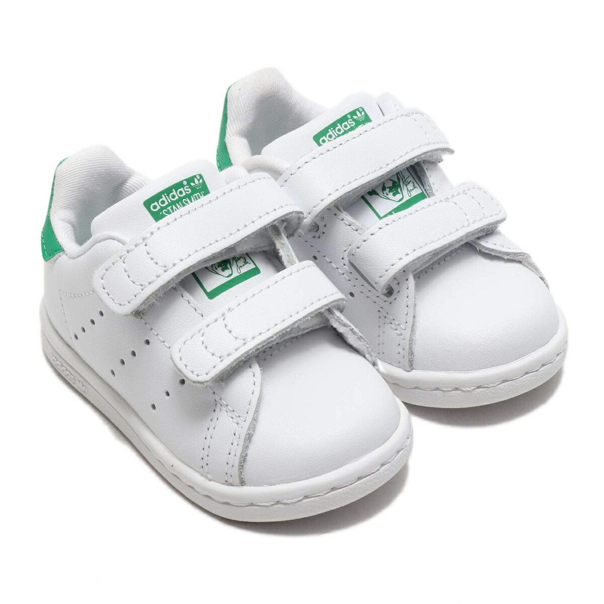 adidas Originals STAN SMITH CF I (Running White/Running White/Green) 【キッズサイズ】【18SS-I】
