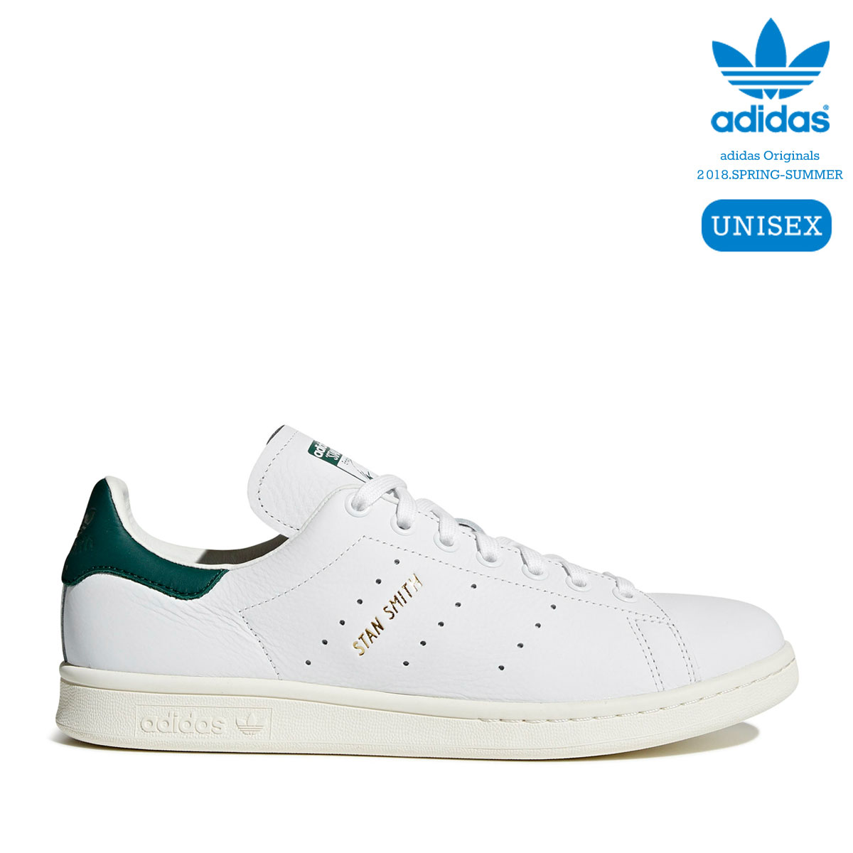 adidas Originals STAN SMITH (Running White/Running White/Collegiate Green) 【ユニセックスサイズ】【18SS-I】