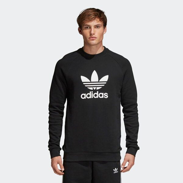 adidasOriginalsTREFOILCREW(Black)【メンズサイズ】【18SS-I】